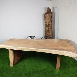 Table en bois de Suar 260cm pieds bois (SUAR58-250)