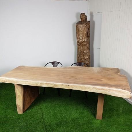 Table En Bois De Suar 260cm Pieds Bois Suar58 250