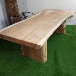 Table en bois de Suar 260cm pieds bois (SUAR61-250)