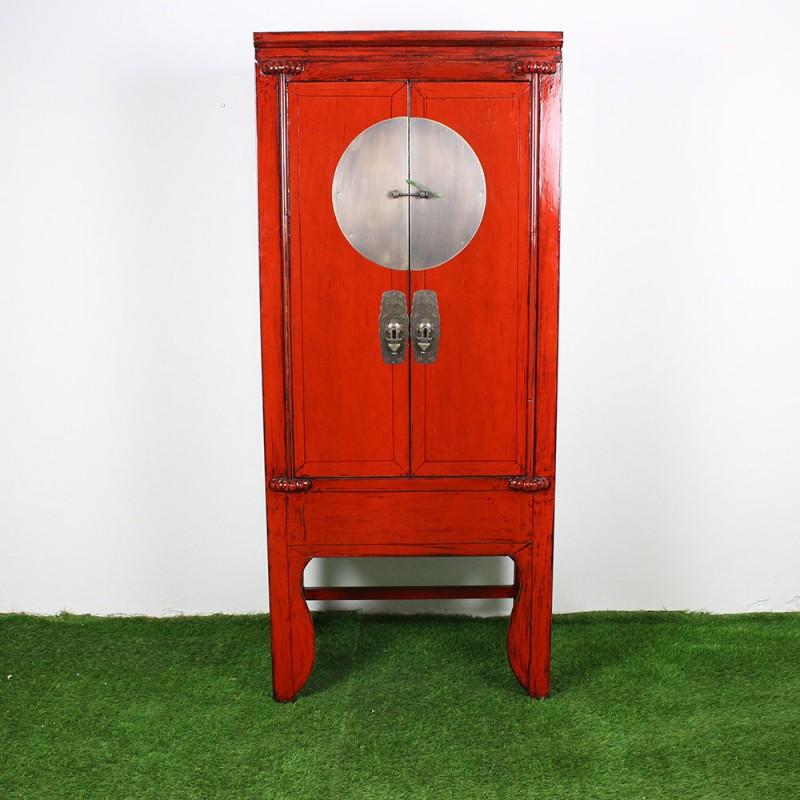 armoire chinoise patin rouge et noir l84 g867. Black Bedroom Furniture Sets. Home Design Ideas
