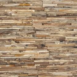 Parement bois de teck 20x50 cm (PAR-BOIS001)