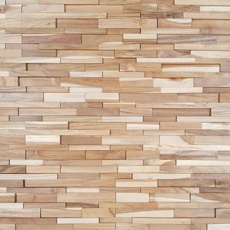 Parement bois de teck Natural div 20,4x50 cm (PAR-BOIS002)