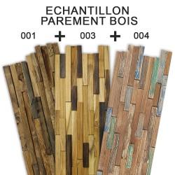 LOT 3 échantillons Parement en bois