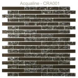 Mosaïque 29,8x30,5 en verre craquelé marron (CRA001)
