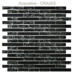 Mosaïque 29,8x30,5 en verre craquelé noir (CRA003)