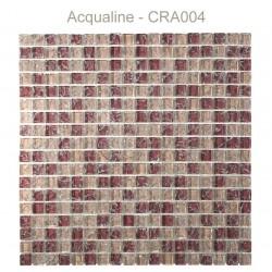 Mosaïque 30x30 en verre craquelé bordeaux et rose (CRA004)