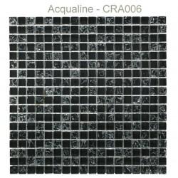 Mosaïque 30x30 en verre craquelé noir (CRA006)