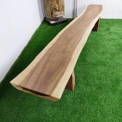 Banc en bois de Suar 279 cm (BSUAR280-031)
