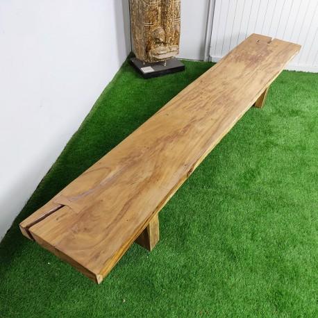 Banc en bois de Suar 283 cm (BSUAR280-032)