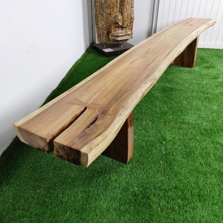 Banc en bois de Suar 280 cm (BSUAR280-034)