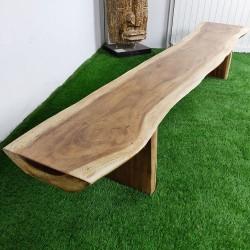 Banc en bois de Suar 279 cm (BSUAR280-035)