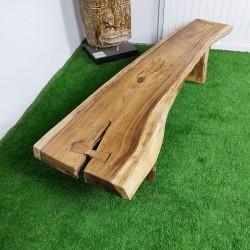 Banc en bois de Suar 200 cm (BSUAR200-028)