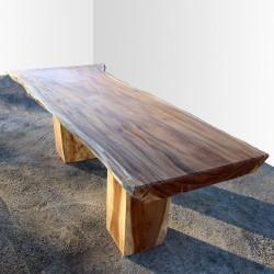 Table en bois de Suar 250cm (SUAR24-250)