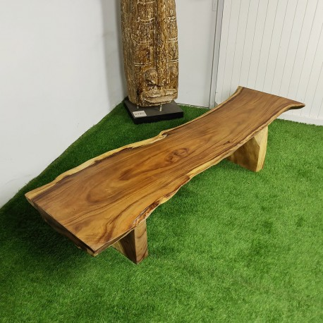 Banc en bois de Suar 198 cm (BSUAR200-033)