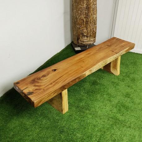 Banc en bois de Suar 200 cm (BSUAR200-037)
