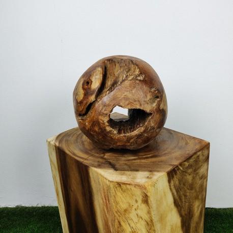 Boule en racine de Teck Ø30cm (BALL-TECK-S15)