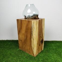 Socle en bois de suar pour décoration H70 (PSUAR-013)