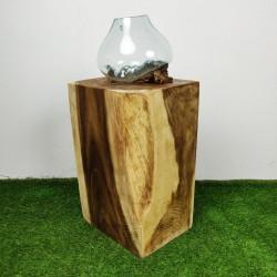 Socle en bois de suar pour décoration H70 (PSUAR-014)
