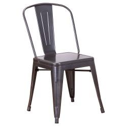 Chaise en métal 718C Carbon (CARBON ASH)