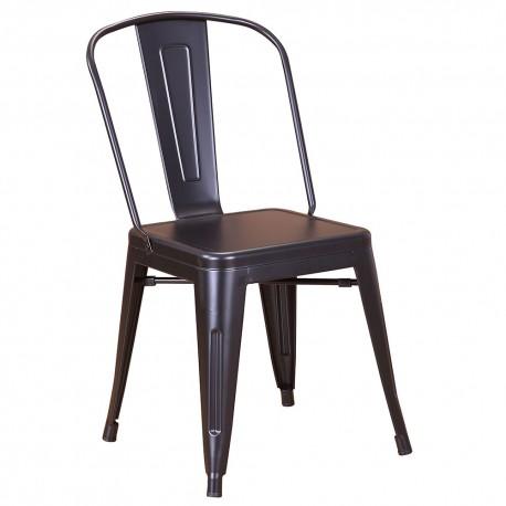 Chaise en métal 718C GNoir mat (MATTE-BLACK)