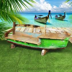 Banc véritable barque de bateau (BARQUE-011)