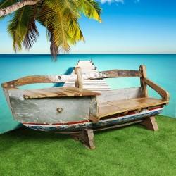 Banc véritable barque de bateau (BARQUE-012)