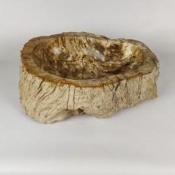 Vasque à poser 51-40 cm en bois pétrifié fossilisé (FOSS45-035YL)