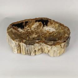Vasque à poser 52-33 cm en bois pétrifié fossilisé (FOSS45-036YL)