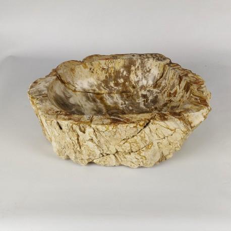 Vasque à poser 48-33 cm en bois pétrifié fossilisé (FOSS45-037YL)