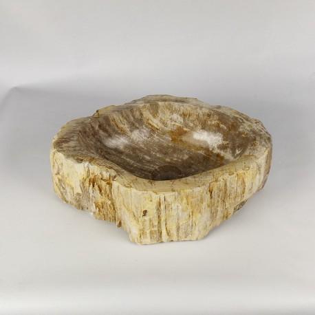Vasque à poser 46-33 cm en bois pétrifié fossilisé (FOSS45-040YL)
