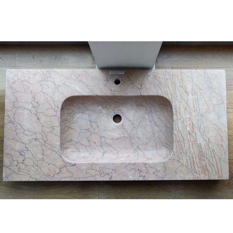 Plan Vasque En Marbre 120x65x20 Terreros Rosa