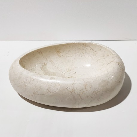 Vasque à poser 60x40 cm ovale marbre full polish