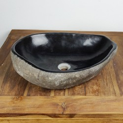 Vasque à poser en galet de rivière 51-39 cm (GAL55-026SLIM)