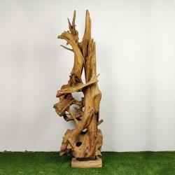 Sculpture d''une racine en Teck H205 (RAC035)