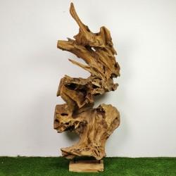 Sculpture d''une racine en Teck H183 (RAC036)