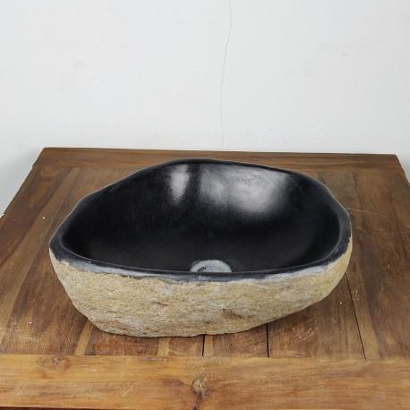 Vasque à poser en galet de rivière 43-37 cm (GAL45-010SLIM)
