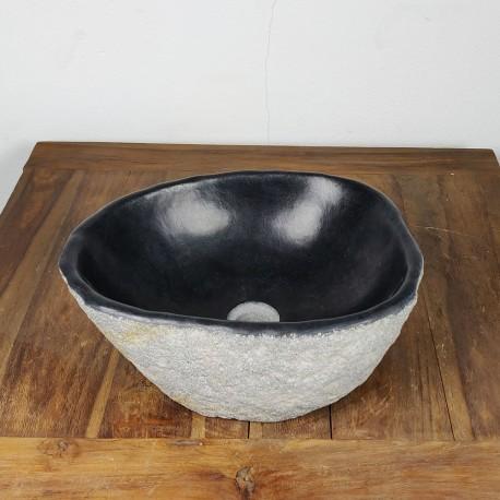 Vasque à poser en galet de rivière 40-32 cm (GAL45-012SLIM)
