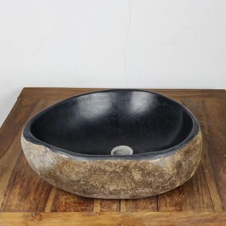 Vasque à poser en galet de rivière 45-41 cm (GAL45-013SLIM)