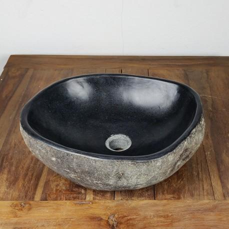 Vasque à poser en galet de rivière 42-35 cm (GAL45-018SLIM)