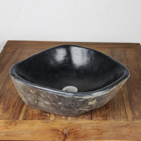 Vasque à poser en galet de rivière 45-40 cm (GAL45-020SLIM)