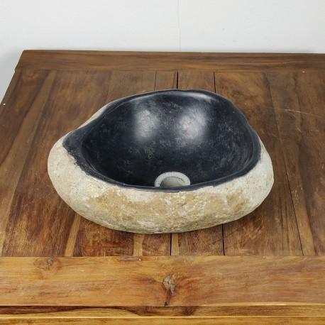 Vasque à poser en galet de rivière 39-31 cm (GAL35-015SLIM)