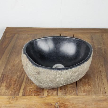 Vasque à poser en galet de rivière 35-33 cm (GAL35-016SLIM)