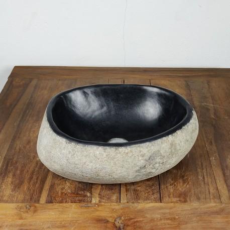 Vasque à poser en galet de rivière 37-29 cm (GAL35-018SLIM)