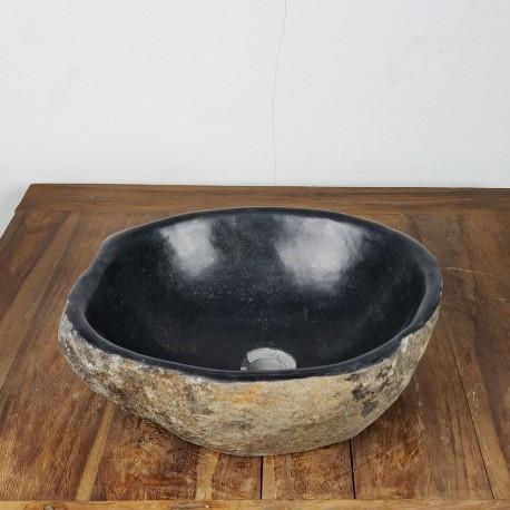 Vasque à poser en galet de rivière 40-34 cm (GAL35-020SLIM)