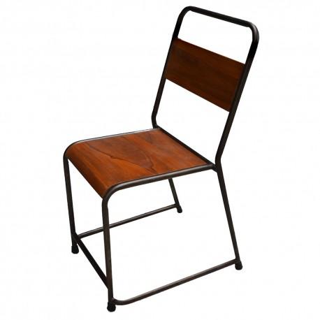 Chaise bois et métal (MET2010)