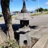Lanterne japonaise en pierre de lave noir H80 cm (LJ-N09)