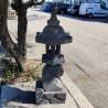 Lanterne japonaise en pierre de lave noir H95 cm (LJ-N11)