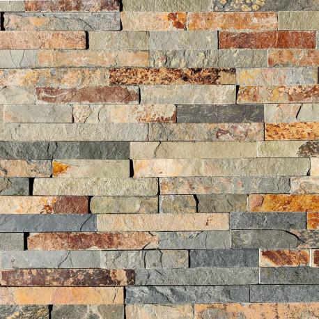 Parement pierre naturelle Quarzite mix 10x36 (PAR-PIER004)
