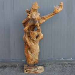 Sculpture d''une racine en Teck H165 (RAC005)