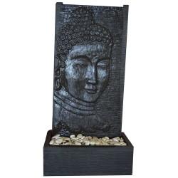 Fontaine débordement visage bouddha M noir (CIM5001NOIR)
